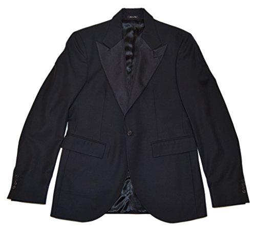(Ralph Lauren Polo RRL Mens Black Wool Tuxedo Tux Blazer Sport Coat Italy 42L)