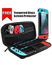 Étui pour Nintendo Switch - Ctrendu Housse de Transport Rigide Version Améliorée avec protection d'écran en verre trempé pour console et accessoires Nintendo Switch