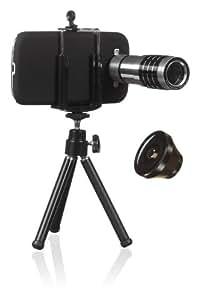 KitVision KVGS3LPK - Set de accesorios de fotografía para Samsung Galaxy S3 (incluye carcasa, trípode, zoom y lente ojo de pez)