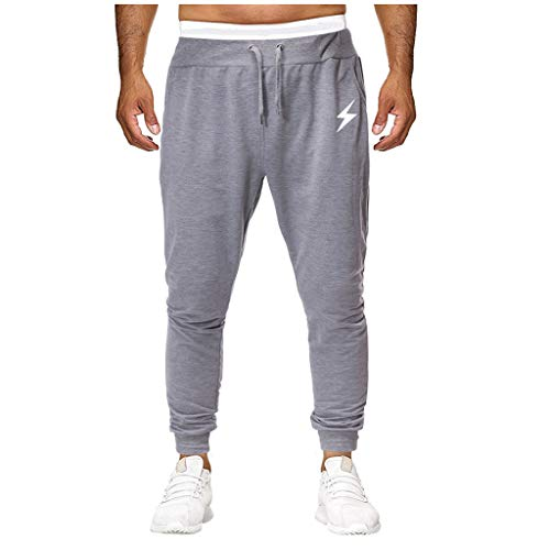 Orfilaly Mens Gym Joggers Sweatpants, Causal Slim Fit Running Trousers Tracksuit Jogging Bottoms with Pockets Work Clothes Gray