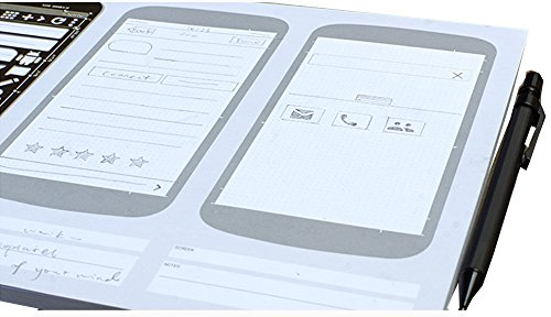 Loghot Set of 3 Draft Drawing Android Material App Design Stainless Steel Sketch Stencil Pencil Kit UI Design Template by Loghot (Image #3)