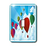 3dRose LLC lsp_12921_1 Hot Air Balloons - Single Toggle Switch