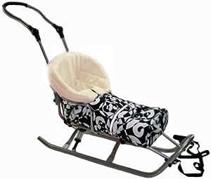 Baby Joy SF-15 XXL - Carrito trineo para bebé con saco inferior de forro polar