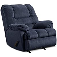 Simmons Upholstery U600-19 Zig Zag Blue Rocker Recliner