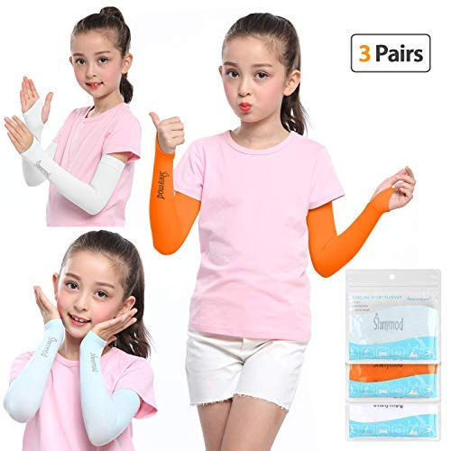 SHINYMOD SHINYMOD UV Protection Arm Sleeves 1 Pair 3 Pairs UPF 50 Cooling Sunblock or Arm Warmer Sleeves for Kids with No Thumb Hole product image