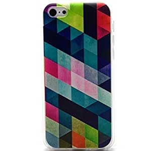 iPhone 5C Case, iPhone 5C Case - Sunshine Case Fashion Style Colorful Painted Colorful Rhombus TPU Case Back Cover Protector Skin For iPhone 5C (Rhombus)