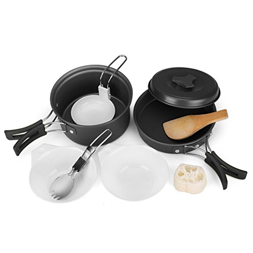 Flexzion Camping Cookware Compact Cooking