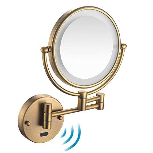 Shaving Mirrors Human Body Induction Make Up Wall Mounted, LED Illuminated Mirror, -