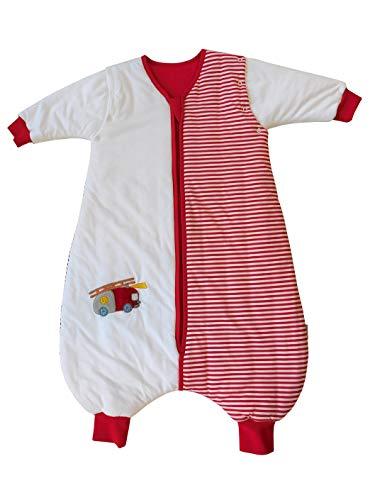 - Slumbersac Standard Kid Sleeping Bag with Feet and Removable Long Sleeves 2.5 Tog - Fire Engine - 3-4 years/110cm