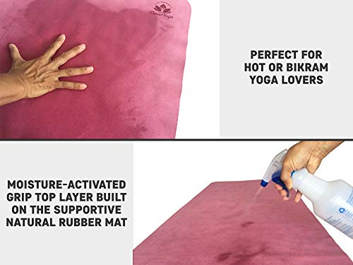 Travel Yoga Mat - Lightweight and Foldable - Super Absorbent and Machine Washable - Ideal Yoga Mats for Bikram and Hot Yoga - YogiOnTheGo Thin Hot Yoga Mat