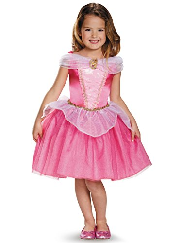 Aurora Classic Disney Princess Sleeping Beauty Costume, (Disney Princess Pink Dress)