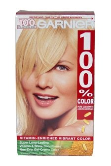 Garnier 100% Color Vitamin-Enriched Gel Crème,100 Extra Light Natural Blonde