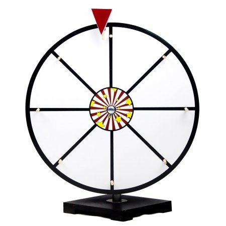 16' White Dry Erase Prize Wheel by Midway Monsters