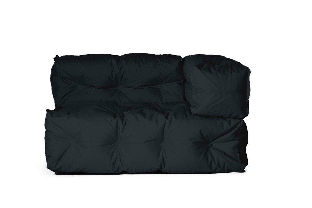Outdoor Couch II von Sitting Bull, 127 x 73 x 89cm, ausgeklappt 155 x 73 x 89cm, schwarz