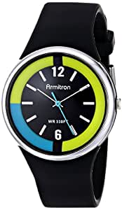 Armitron Unisex 25/6417BLK Black Resin Strap Analog Sport Watch
