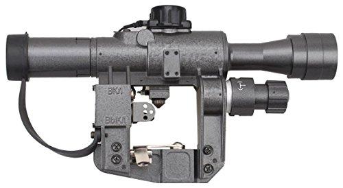 TAC Vector Optics Dragunov 4x24 SVD First Focal Plane Sniper Hunting Riflescope FFP Illuminated Sight (Best Vepr Scope Mount)