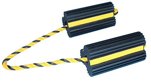 YM W4255 Extruded Rubber Wheel Chock with Rope, 8