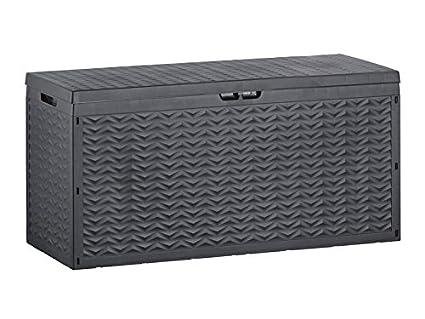 Box In Plastica Per Giardino.Florabest 320 Litri Plastica Universale Box Cassapanca Da