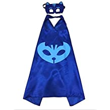 Kzoo Warehouse Superhero Cape and Mask Costume Set Boys Girls Birthday Halloween Play Dress Up