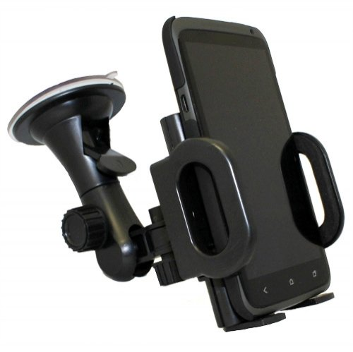 Xenda Car Mount Universal Vehicle Window Suction Cup Cell Phone Holder for Blackberry Curve 9310 - Blackberry Tour 9630 - Blackberry Style 9670 - Blackberry Storm-2 9550