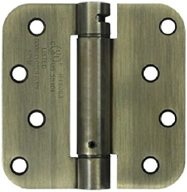 Deltana DSH4R526 Single Action Steel 4-Inch x 4-Inch x 5//8-Inch Spring Hinge