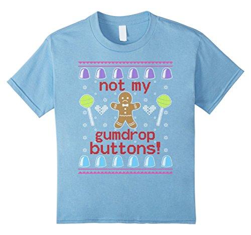 [Kids Not My Gumdrop Buttons T-shirt Ugly Christmas 8 Baby Blue] (Gumdrop Costume Ideas)