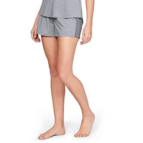 Under Armour Women's Recovery Sleepwear Short, Steel Fade Heather (035)/Tonal, X-Large