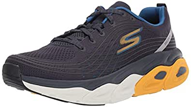 Skechers Men's MAX CUSHION-54440 Sneaker, Navy/Yellow, 8.5 M US