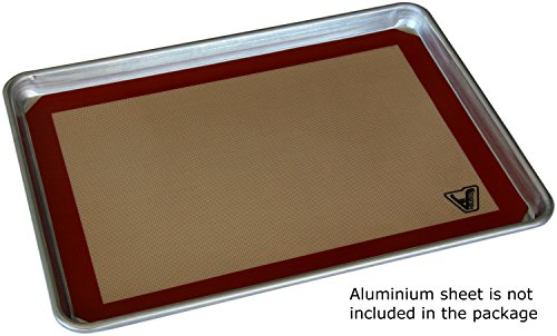 Silicone Baking Mat - Set of 3 Half Sheet (Thick & Large 11 5/8'' x 16 1/2'') - Non Stick Silicon Liner for Bake Pans & Rolling - Macaron/Pastry/Cookie/Bun/Bread Making - Professional Grade Nonstick by Velesco (Image #2)