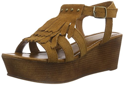 Marco Tozzi Premio 28353 - Sandalias de vestir de cuero para mujer Marrón - marrón (muscat 311)