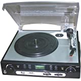 Pyle Plttb9u Turntable Mp3 Player With Usb Sd Card Input Am Fm Tuner