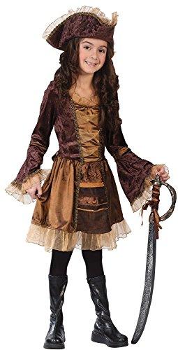 (Big Girls' Sassy Victorian Pirate Costume -)