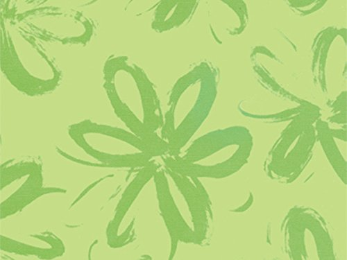Pack of 1, Green Leaves 30'' x 417' Half Ream Roll Gift Wrap for Holiday, Party, Kids' Birthday, Wedding & Special Occasion Packaging by Generic