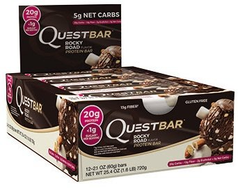 Quest Nutrition Protein Bar, Rocky Road, 12 Count