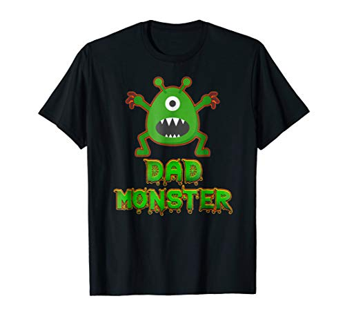 Funny Family Halloween Costumes Monster Dad Gift T-shirt]()