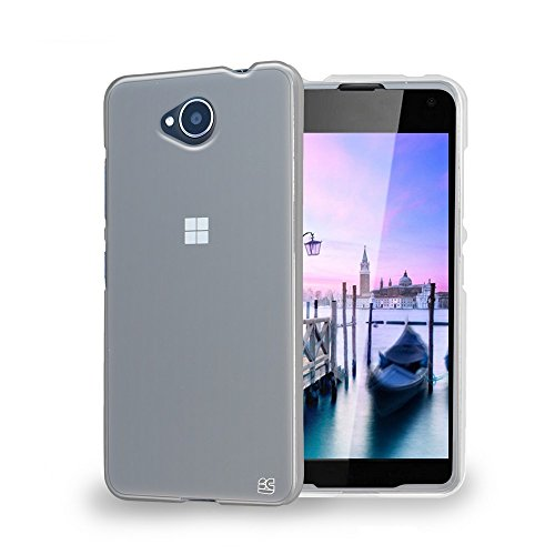 Beyond Cell Lumia 650 Case, [Ultra Slim Fit] Hybrid Lightweight 1 Piece Flexible Soft Gel Skin Bumper Phone Cover [Clear] 650 Hybrid
