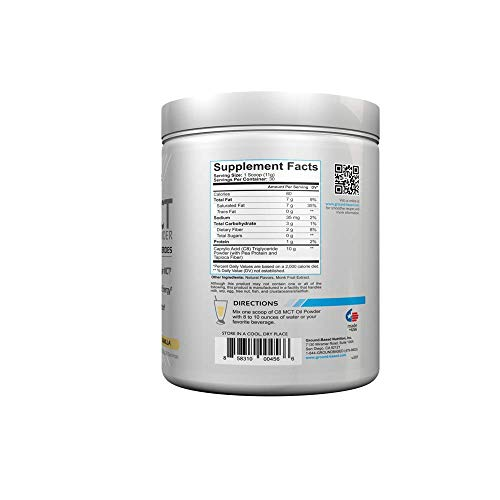 C8 MCT Oil Powder – Supercharged Medium Chain Triglycerides for Ketone Energy – Vegan, Non Dairy, Non-GMO, Gluten Free…
