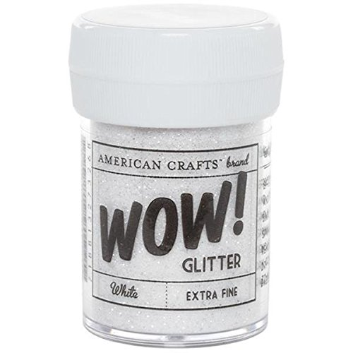 American Crafts Glitter, Extra Fine White