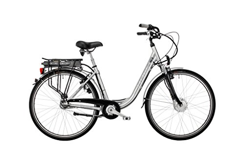 HAWK Bikes Green City Plus Wave E-Bike - Damen City Pedelec mit Aluminiumrahmen und Nabenschaltung (28 Zoll, Rahmengröße 48 cm)