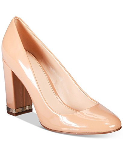 Bar III Womens Selena Fabric Closed Toe Classic Pumps, Nude, Size 9.0