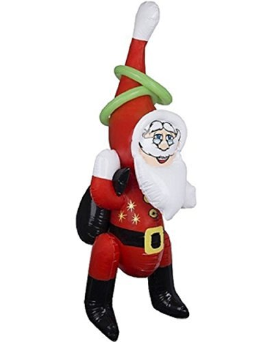 Ring Toss Game Inflatable Santa Ring Toss Indoor Outdoor Kids Game by Wembley