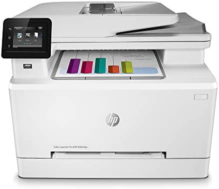 HP Color LaserJet Pro M283fdw Wireless All-in-One Laser Printer, Remote Mobile Print, Scan Copy, Duplex Printing, Works with Alexa 7KW75A