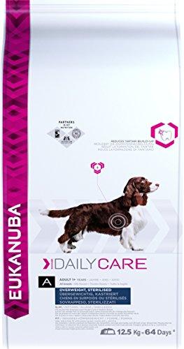 Eukanuba Daily Care Adulto – Alimento seco para perros con sobrepeso y esterilizados, 12,5 kg