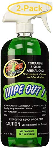 (2 Pack) Zoo Med Wipe Out 1 Disinfectant, 32 oz
