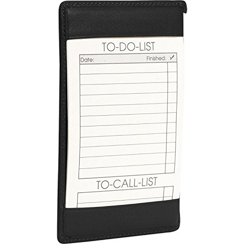 Royce Leather Traditional Note Jotter,Black,One Size - Leather Traditional Note Jotter