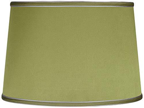 Sydnee Satin Olive Green Drum Lamp Shade 14x16x11 ()