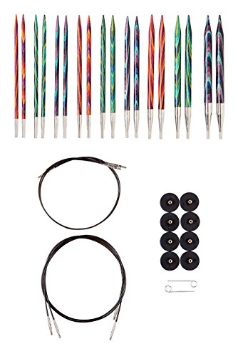 Knit Needle Size - Knit Picks Options Wood Interchangeable Knitting Needles Set - US 4-11 (Mosaic)