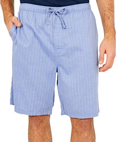 Nautica Men's Woven Sleep Jam Short, Blue Bone, Large (Shorts Nautica Boxer)