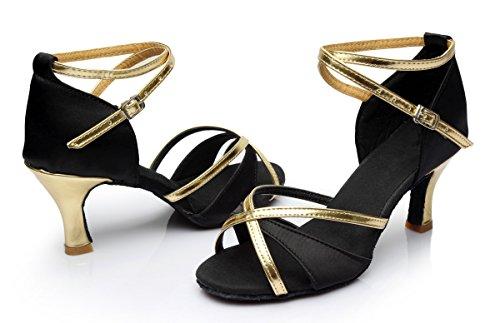 dance women's dance women height female shoes with ShangYi Black ballroom 7cm shoes shoes dance Latin shoes Latin adult q0zBwBXS