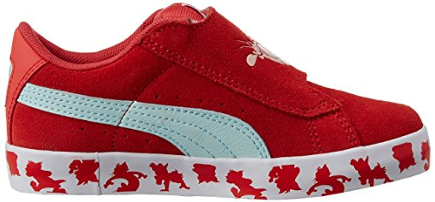 Puma Unisex Kids' Puma S Vulc Tom & Jerry Kids Low-Top Trainer, Pink (cayenne/clearwater), 4 UK